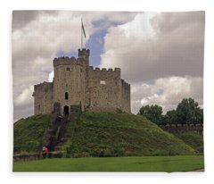Cardiff Castle Keep Fleece Blanket