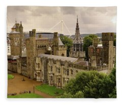 Cardiff Castle Fleece Blanket