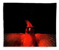 Cardinal Drama Fleece Blanket