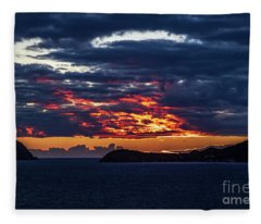 Caribbean Sunrise I Fleece Blanket