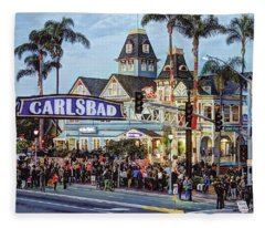 Carlsbad Village Sign Fleece Blanket