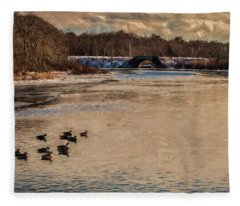 Carmens River In Winter Fleece Blanket