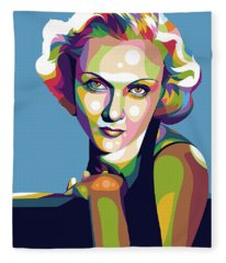 Carole Lombard Fleece Blanket
