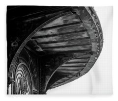 Fleece Blanket featuring the photograph Carousel House Detail by Steve Stanger