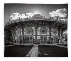 Fleece Blanket featuring the photograph Carousel House by Steve Stanger