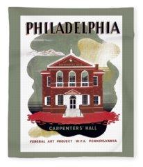 Carpenter Hall - Philadelphia - Remastered Fleece Blanket