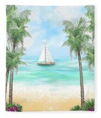 Carribean Bay Fleece Blanket