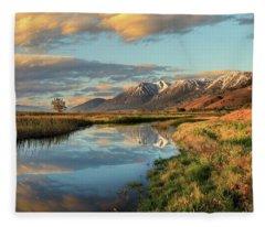 Carson Valley Sunrise Fleece Blanket