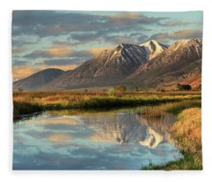 Carson Valley Sunrise Panorama Fleece Blanket