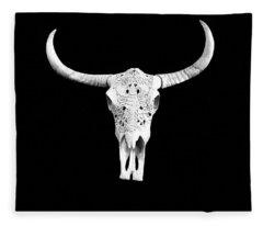 Carved Animal Skull  Fleece Blanket