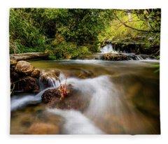 Cascades On The Provo Deer Creek Fleece Blanket