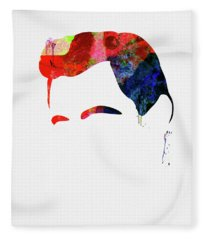 Cash Watercolor Fleece Blanket