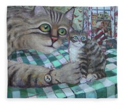 Cat Daddy Fleece Blanket