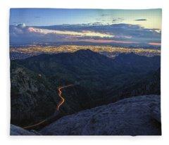 Catalina Highway And Tucson Fleece Blanket