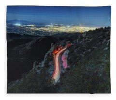 Catalina Highway Moonlight Fleece Blanket