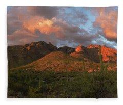 Catalina Mountains, Arizona Fleece Blanket