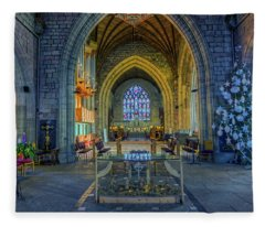 Cathedral At Christmas Fleece Blanket