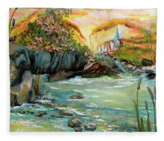 Cattail Falls Fleece Blanket