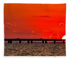 Causeway Sunset Fleece Blanket