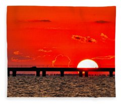 Causeway Sunset Fleece Blanket
