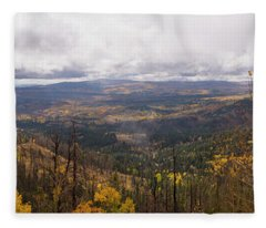 Cedar Mountain Top  Fleece Blanket