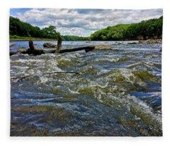 Fleece Blanket featuring the photograph Cedar River Iowa by Dan Miller