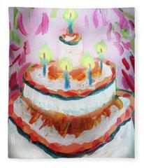 Celebration Cake Fleece Blanket