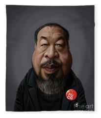 Celebrity Sunday - Ai Weiwei Fleece Blanket