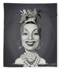 Celebrity Sunday - Carmen Miranda Fleece Blanket