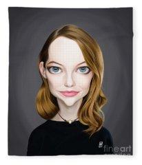 Celebrity Sunday - Emma Stone Fleece Blanket