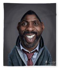 Celebrity Sunday - Idris Elba Fleece Blanket