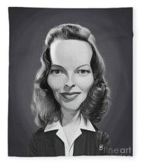 Celebrity Sunday - Katharine Hepburn Fleece Blanket