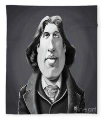 Celebrity Sunday - Oscar Wilde Fleece Blanket