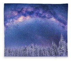 Fleece Blanket featuring the photograph Celestial Dreams  by Andrea Kollo