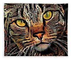 Celtic Knot Cat Art Fleece Blanket