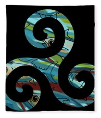 Celtic Spiral 2 Fleece Blanket