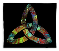 Celtic Triquetra Or Trinity Knot Symbol 1 Fleece Blanket