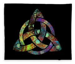 Celtic Triquetra Or Trinity Knot Symbol 3 Fleece Blanket