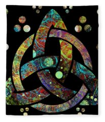 Celtic Triquetra Or Trinity Knot Symbol 4 Fleece Blanket