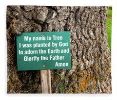Centennial Oak - Salem Oak Tree Fleece Blanket