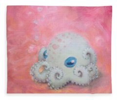 Cephalopod From Another Planet Fleece Blanket