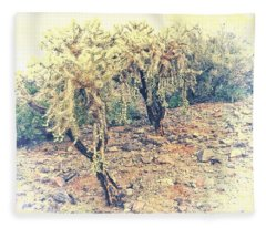 Fleece Blanket featuring the photograph Chain Fruit Cholla by Judy Kennedy