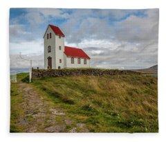 Chapel Of Iceland Fleece Blanket