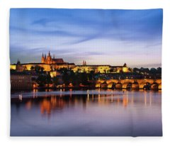 Charles Bridge Fleece Blanket
