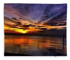 Charleston Gold Fleece Blanket