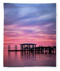 Charleston Harbor Sunrise II Fleece Blanket