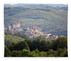 Chateau Beynac, France Fleece Blanket