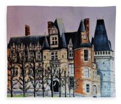 Chateau De Maintenon Fleece Blanket