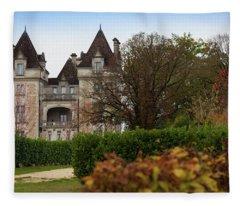 Chateau, Near Beynac, France Fleece Blanket