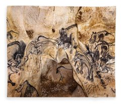 Chauvet Lions And Rhinos Fleece Blanket